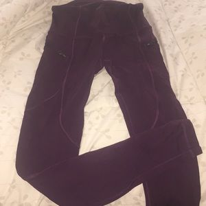 Maroon lulu lemon leggings